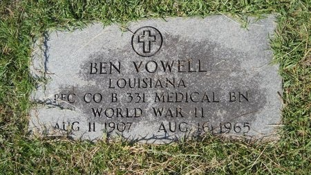 VOWELL, BEN (VETERAN WWII) - Webster County, Louisiana | BEN (VETERAN WWII) VOWELL - Louisiana Gravestone Photos