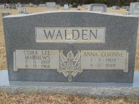 WALDEN, CORA LEE - Webster County, Louisiana | CORA LEE WALDEN - Louisiana Gravestone Photos