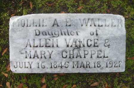 "WALLER, MARY A ELIZABETH ""MOLIIE"" - Webster County, Louisiana | MARY A ELIZABETH ""MOLIIE"" WALLER - Louisiana Gravestone Photos"