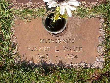 WASER, JANET L - Webster County, Louisiana   JANET L WASER - Louisiana Gravestone Photos