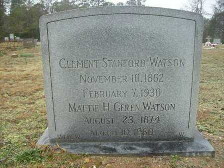 WATSON, CLEMENT STANFORD - Webster County, Louisiana   CLEMENT STANFORD WATSON - Louisiana Gravestone Photos