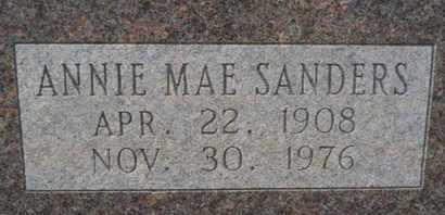 SANDERS WATTERS, ANNIE MAE (CLOSE UP) - Webster County, Louisiana | ANNIE MAE (CLOSE UP) SANDERS WATTERS - Louisiana Gravestone Photos