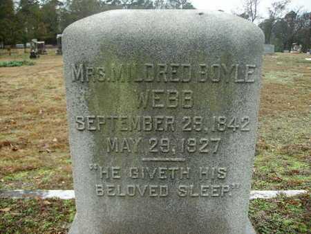 WEBB, MILDRED - Webster County, Louisiana | MILDRED WEBB - Louisiana Gravestone Photos
