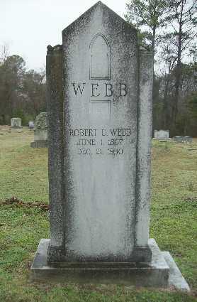 WEBB, ROBERT D - Webster County, Louisiana   ROBERT D WEBB - Louisiana Gravestone Photos