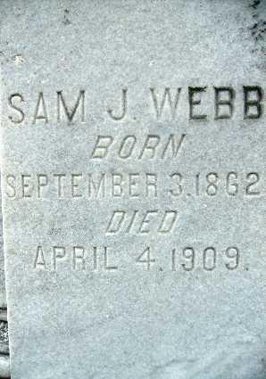 WEBB, SAM J (CLOSE UP) - Webster County, Louisiana | SAM J (CLOSE UP) WEBB - Louisiana Gravestone Photos