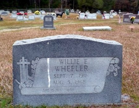 WHEELER, WILLIE E - Webster County, Louisiana | WILLIE E WHEELER - Louisiana Gravestone Photos