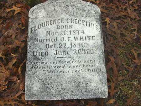 WHITE, FLOURENCE CRECELIUS - Webster County, Louisiana   FLOURENCE CRECELIUS WHITE - Louisiana Gravestone Photos