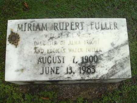WHITE, MIRIAM RUPERT - Webster County, Louisiana | MIRIAM RUPERT WHITE - Louisiana Gravestone Photos