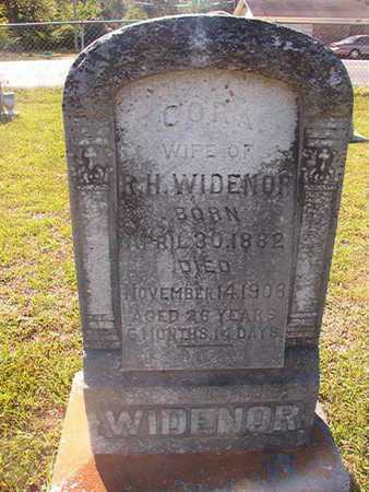WIDENOR, CORA - Webster County, Louisiana | CORA WIDENOR - Louisiana Gravestone Photos