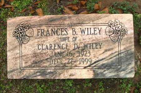 WILEY, SARAH FRANCES - Webster County, Louisiana | SARAH FRANCES WILEY - Louisiana Gravestone Photos