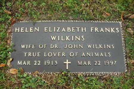 FRANKS WILKINS, HELEN ELIZABETH - Webster County, Louisiana | HELEN ELIZABETH FRANKS WILKINS - Louisiana Gravestone Photos