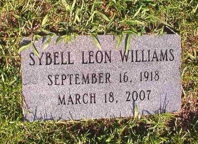 WILLIAMS, SYBELL LEON - Webster County, Louisiana | SYBELL LEON WILLIAMS - Louisiana Gravestone Photos