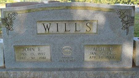 WILLS, JOHN EDMOND - Webster County, Louisiana | JOHN EDMOND WILLS - Louisiana Gravestone Photos