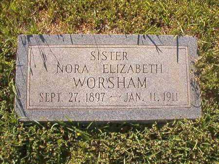 WORSHAM, NORA ELIZABETH - Webster County, Louisiana | NORA ELIZABETH WORSHAM - Louisiana Gravestone Photos