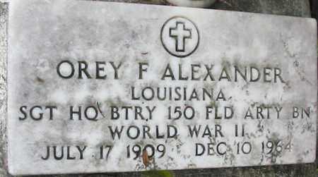 ALEXANDER, OREY F (VETERAN WWII) - West Baton Rouge County, Louisiana | OREY F (VETERAN WWII) ALEXANDER - Louisiana Gravestone Photos