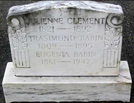 CLEMENT BABIN, JULIENNE - West Baton Rouge County, Louisiana | JULIENNE CLEMENT BABIN - Louisiana Gravestone Photos