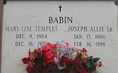 BABIN, MARY LISE - West Baton Rouge County, Louisiana | MARY LISE BABIN - Louisiana Gravestone Photos