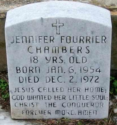 CHAMBERS, JENNIFER FOURRIER - West Baton Rouge County, Louisiana | JENNIFER FOURRIER CHAMBERS - Louisiana Gravestone Photos