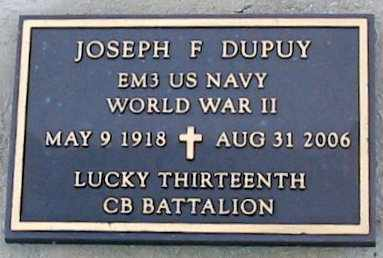 DUPUY, JOSEPH F (VETERAN WWII) - West Baton Rouge County, Louisiana | JOSEPH F (VETERAN WWII) DUPUY - Louisiana Gravestone Photos