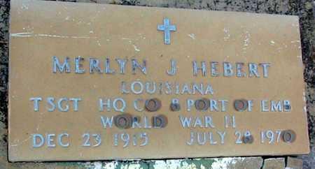 HEBERT, MERLYN J (VETERAN WWII) - West Baton Rouge County, Louisiana   MERLYN J (VETERAN WWII) HEBERT - Louisiana Gravestone Photos