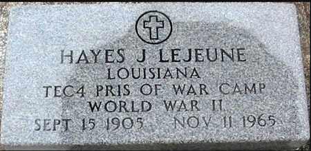 LEJEUNE, HAYES J (VETERAN WWII) - West Baton Rouge County, Louisiana | HAYES J (VETERAN WWII) LEJEUNE - Louisiana Gravestone Photos