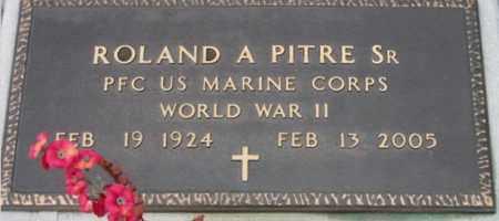 PITRE, ROLAND A,SR (VETERAN WWII) - West Baton Rouge County, Louisiana | ROLAND A,SR (VETERAN WWII) PITRE - Louisiana Gravestone Photos