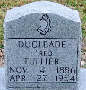 "TULLIER, DUCLEDE JOSEPH ""RED"" - West Baton Rouge County, Louisiana   DUCLEDE JOSEPH ""RED"" TULLIER - Louisiana Gravestone Photos"