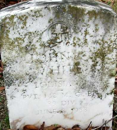 WHITE, JOHN G  (VETERAN - West Baton Rouge County, Louisiana | JOHN G  (VETERAN WHITE - Louisiana Gravestone Photos