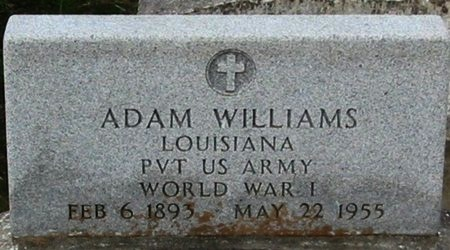 WILLIAMS, ADAM  (VETERAN WWI) - West Baton Rouge County, Louisiana | ADAM  (VETERAN WWI) WILLIAMS - Louisiana Gravestone Photos