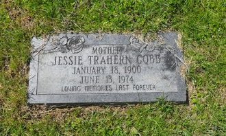 TRAHERN COBB, JESSIE - West Carroll County, Louisiana | JESSIE TRAHERN COBB - Louisiana Gravestone Photos