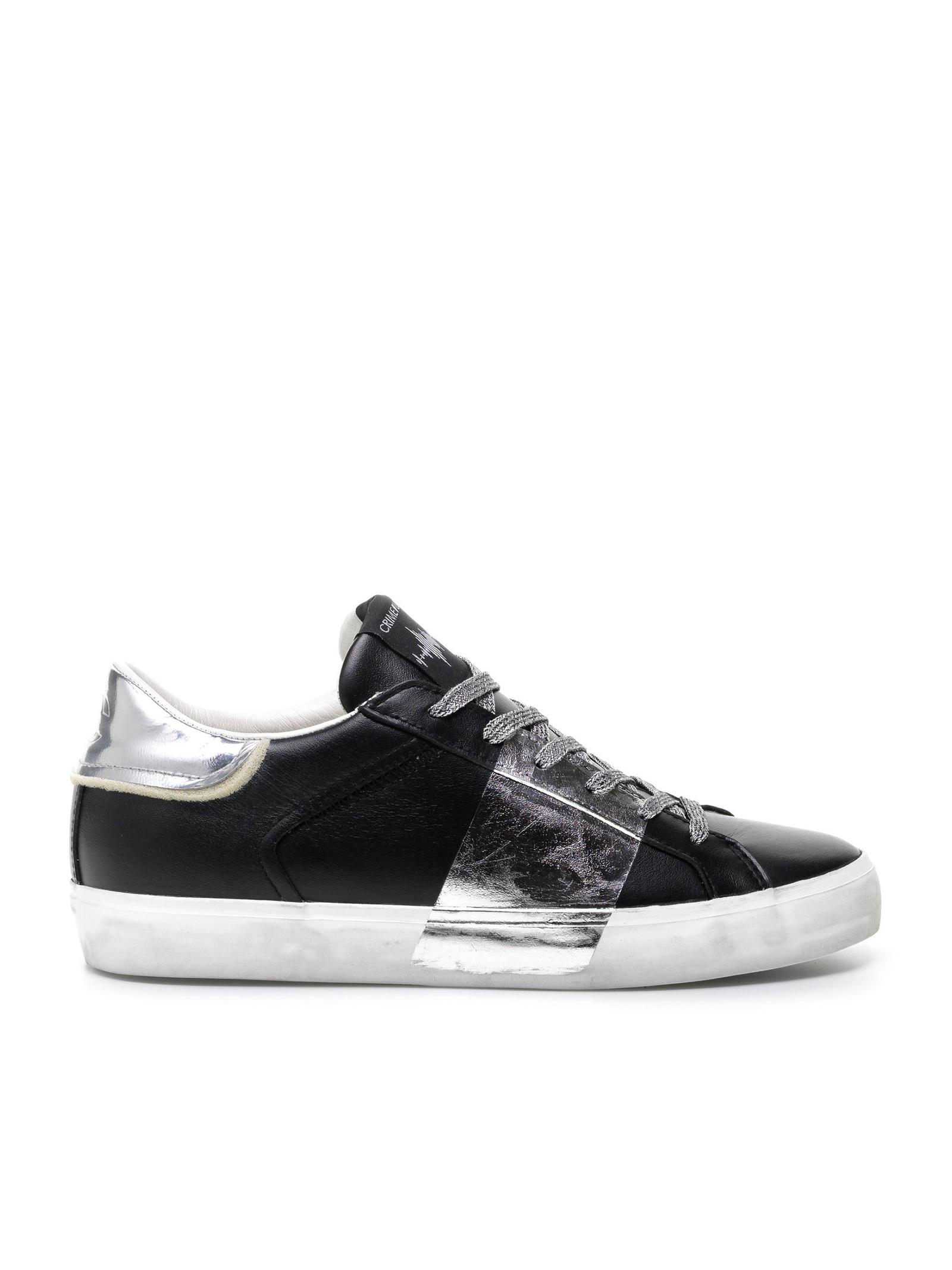 sneaker metallic silver CRIME LONDON | Sneakers | 25006AA320
