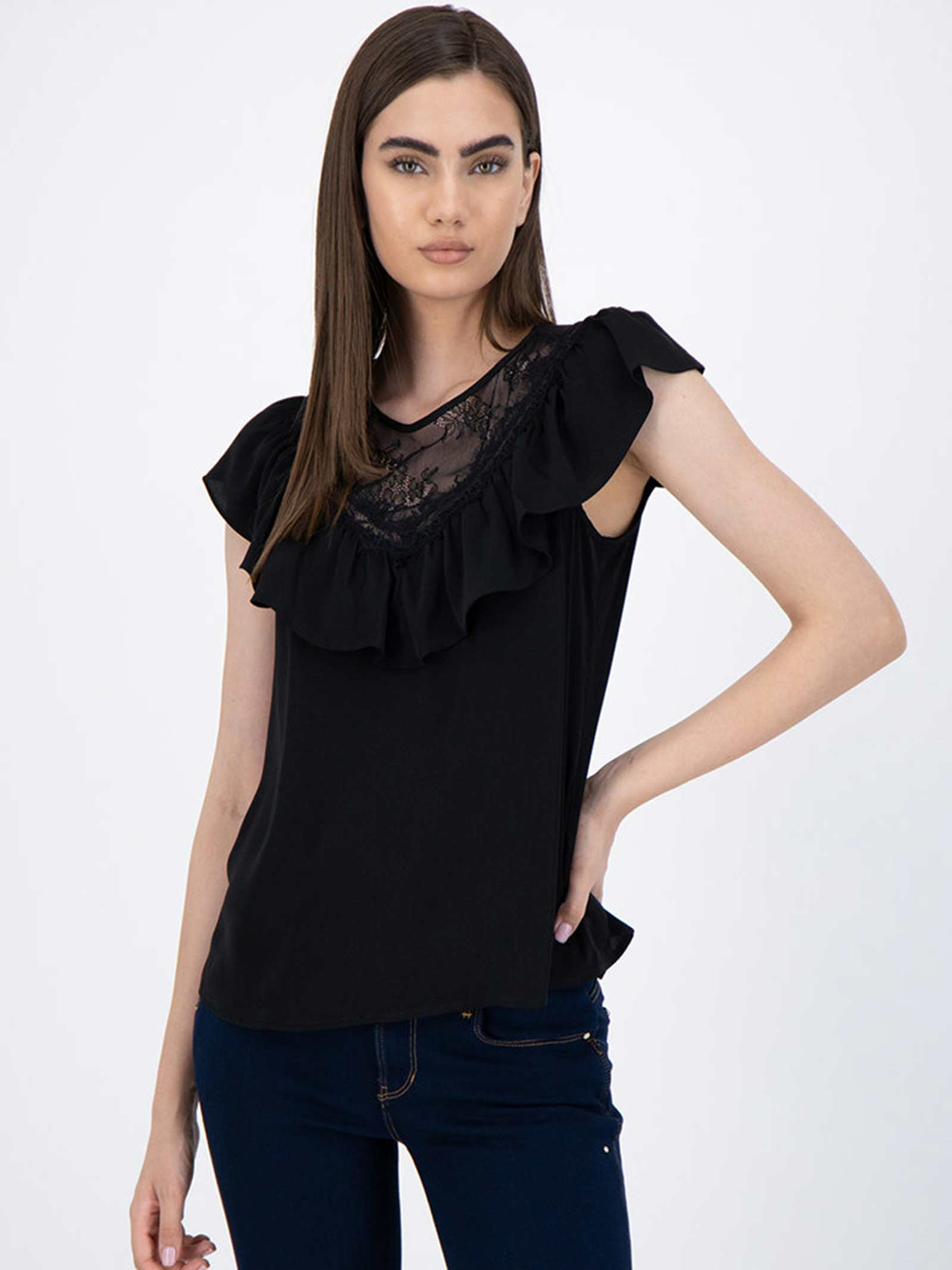 top con pizzo e rouches GUESS | Top | W0YH90 W5OC2JBLK