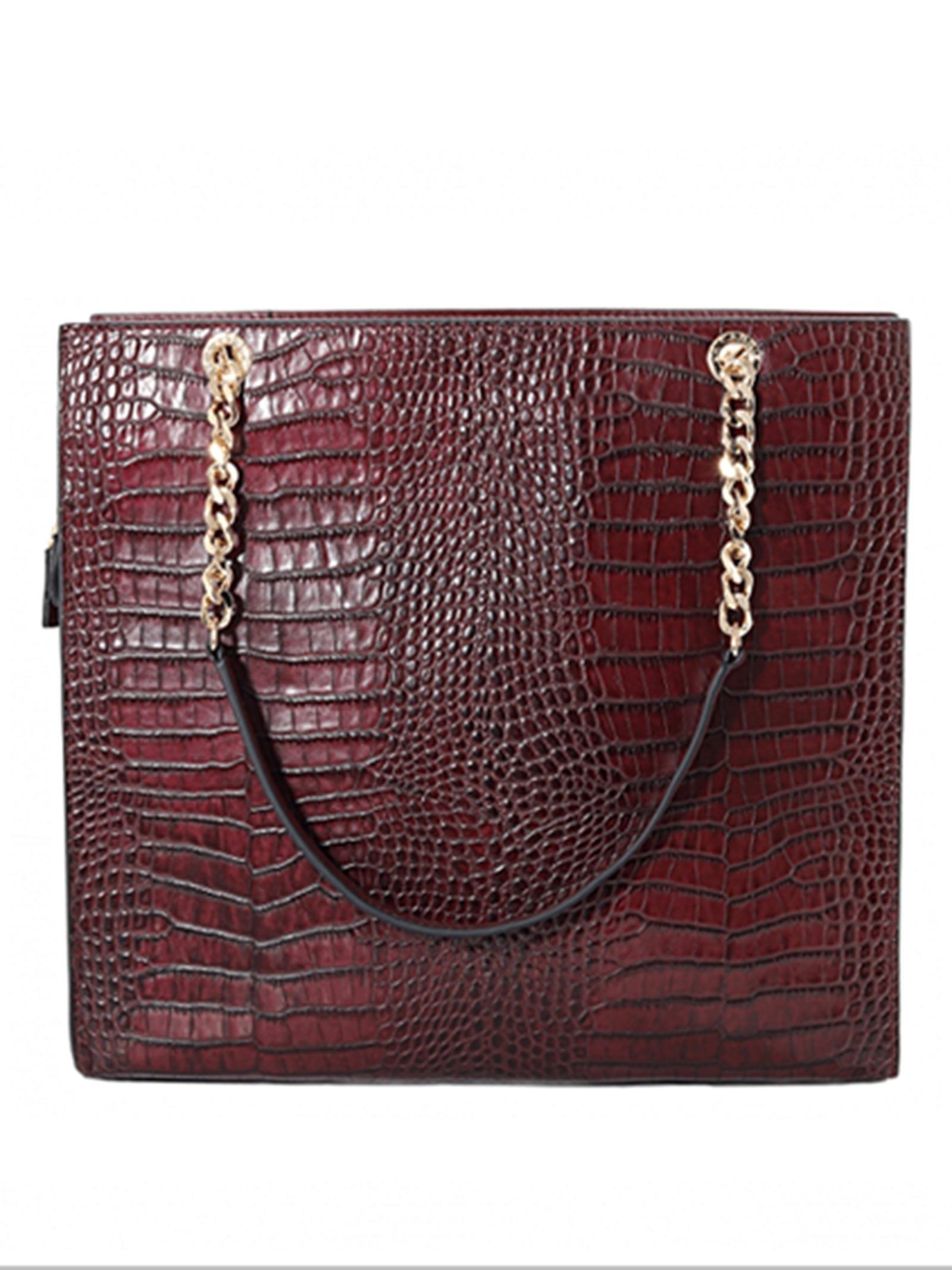 shopper bag burgundy LA CARRIE | Borsa | VA 132COC