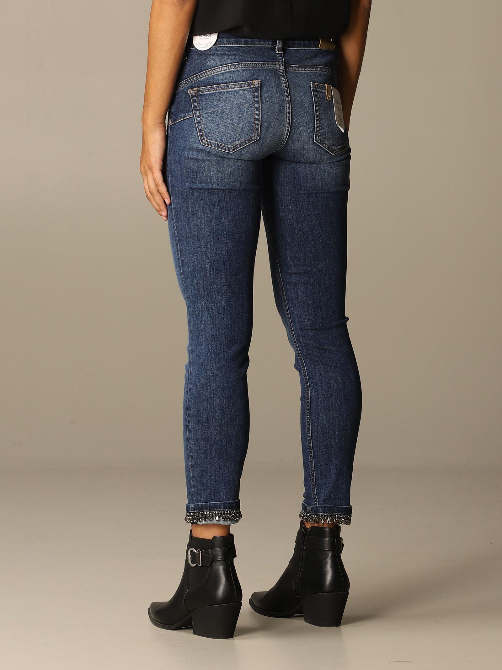 jeans bottom up con applicazioni liu jo LIU JO | Jeans | UF0006D418677539