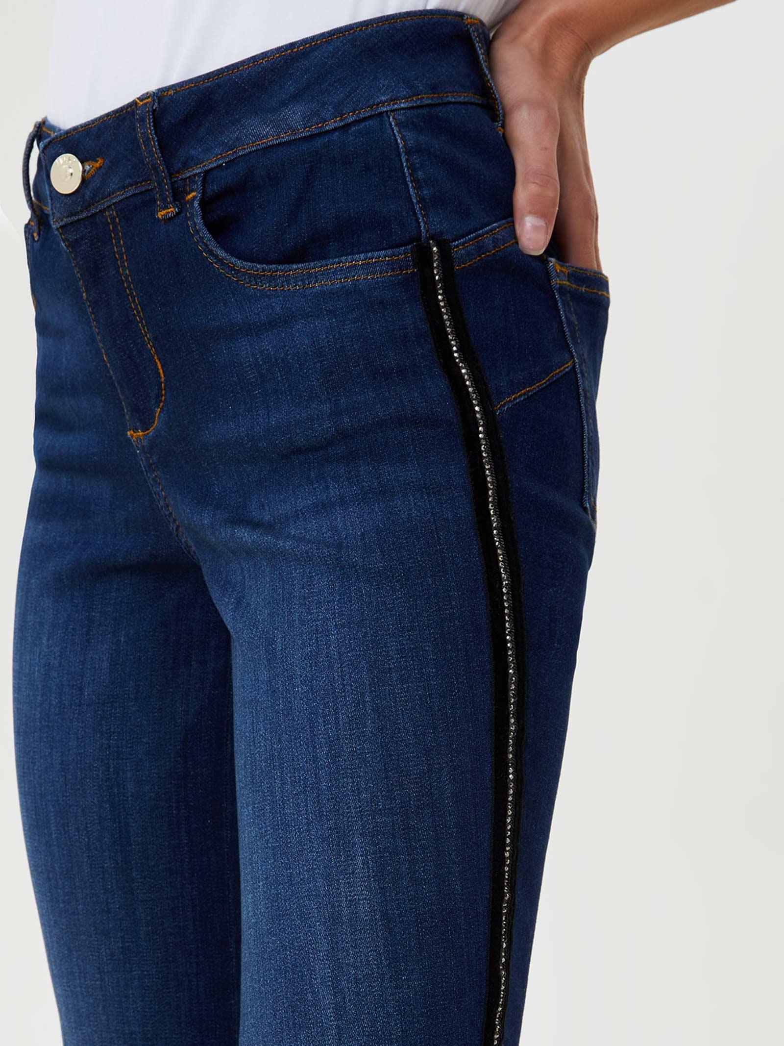 Jeans cropped con orli unfinished liu jo LIU JO | Jeans | UF0021D451078098