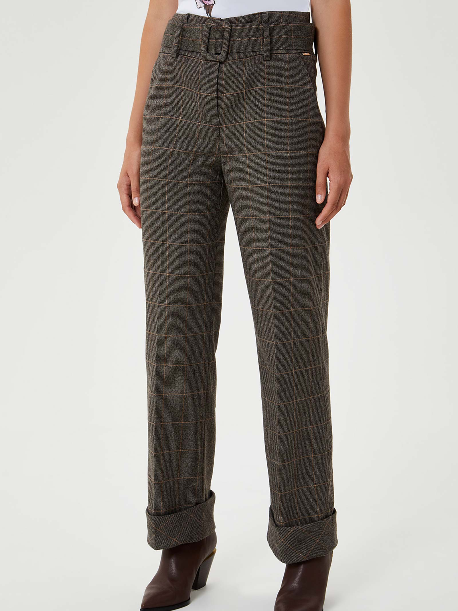pantalone check a palazzo LIU JO | Pantalone | WF0406T4523T9151