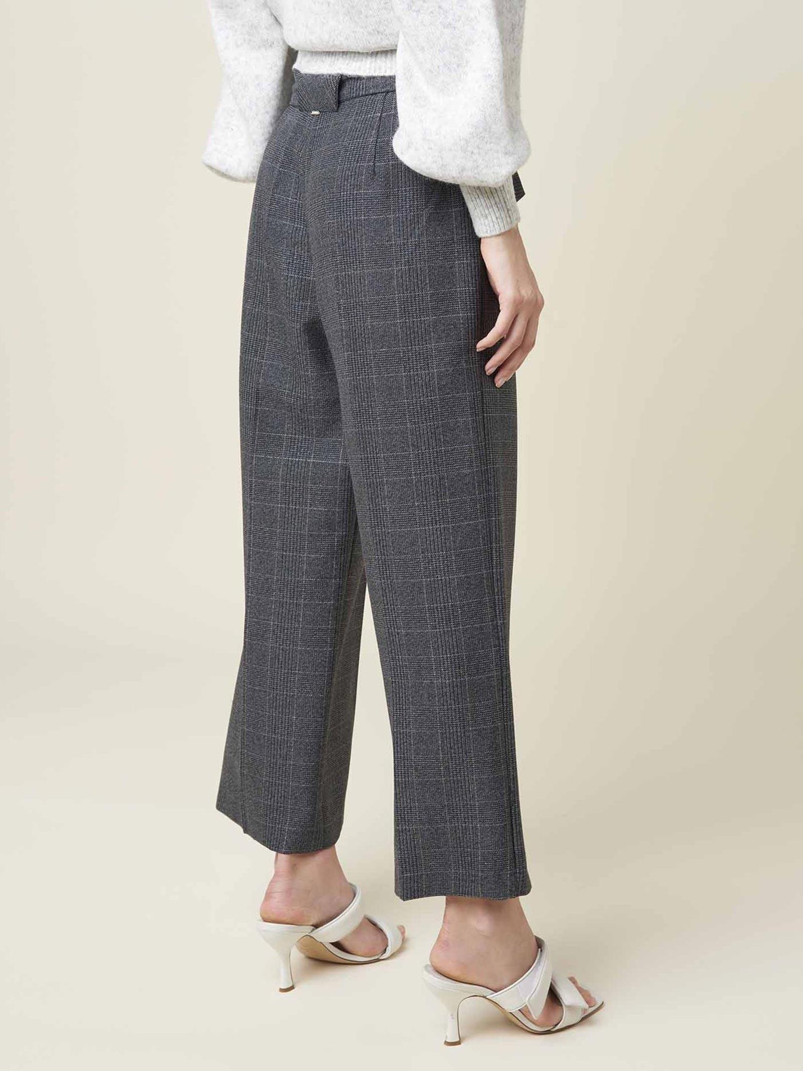 pantalone a vita alta trama check SILVIAN HEACH | Pantalone | PGA20639PARPW