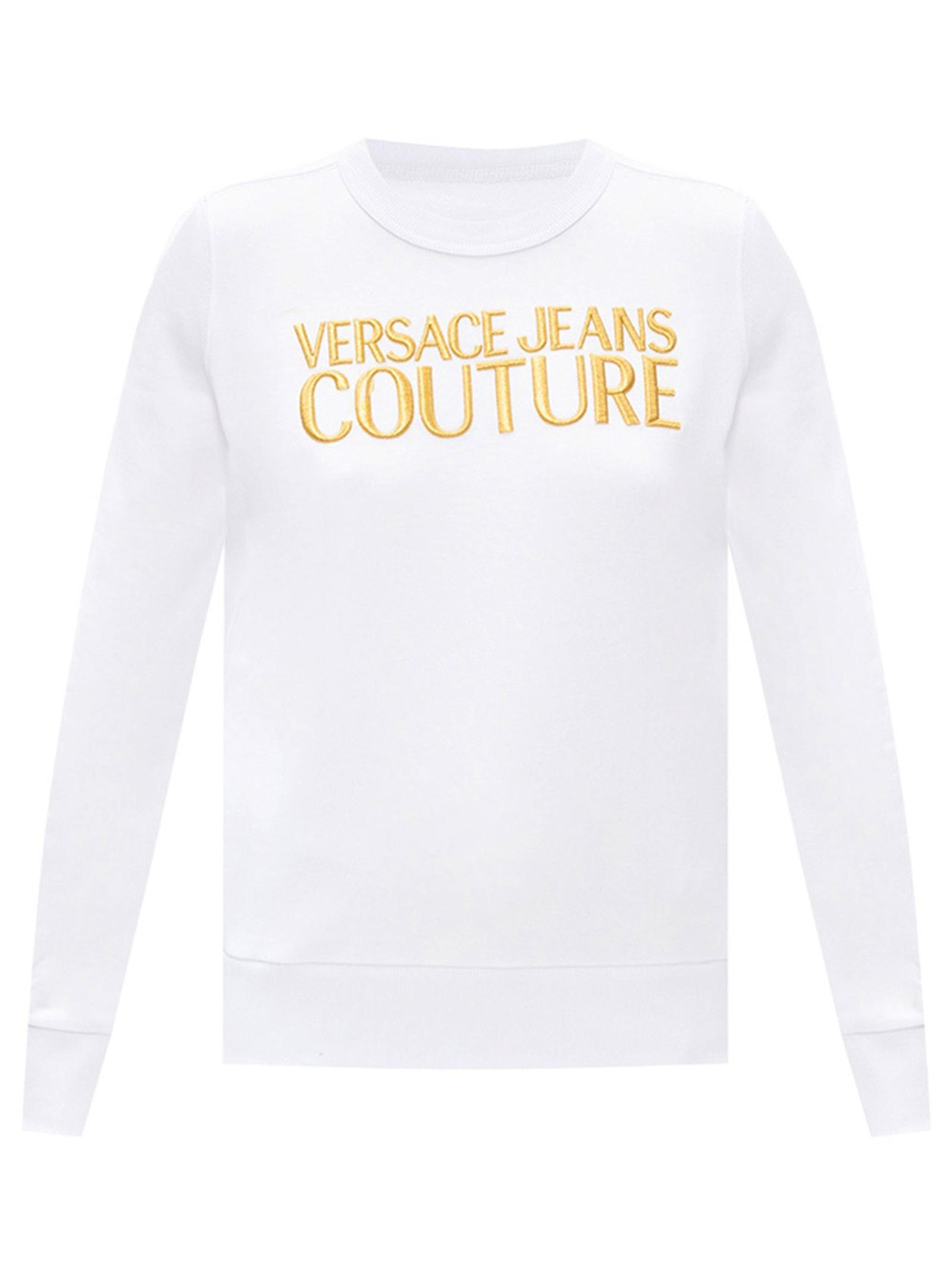 felpa logo ricamo versace jeans couture VERSACE JEANS | Felpe | B6 HZA7TZ 30318K41