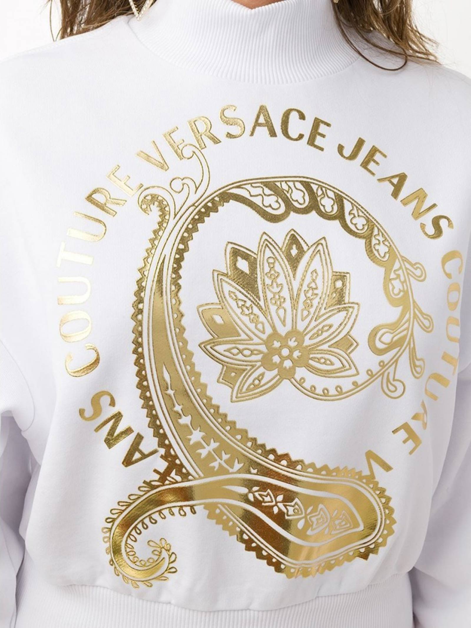 felpa flowers versace jeans couture VERSACE JEANS   Felpa   B6HZA7EC30310K41