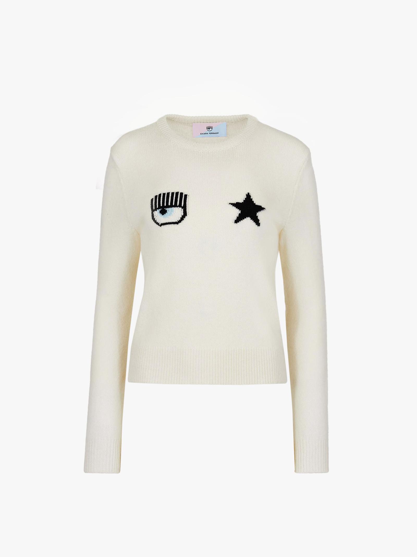 Pullover Eye Star CF CHIARA FERRAGNI   knitwear   71CBFM01008