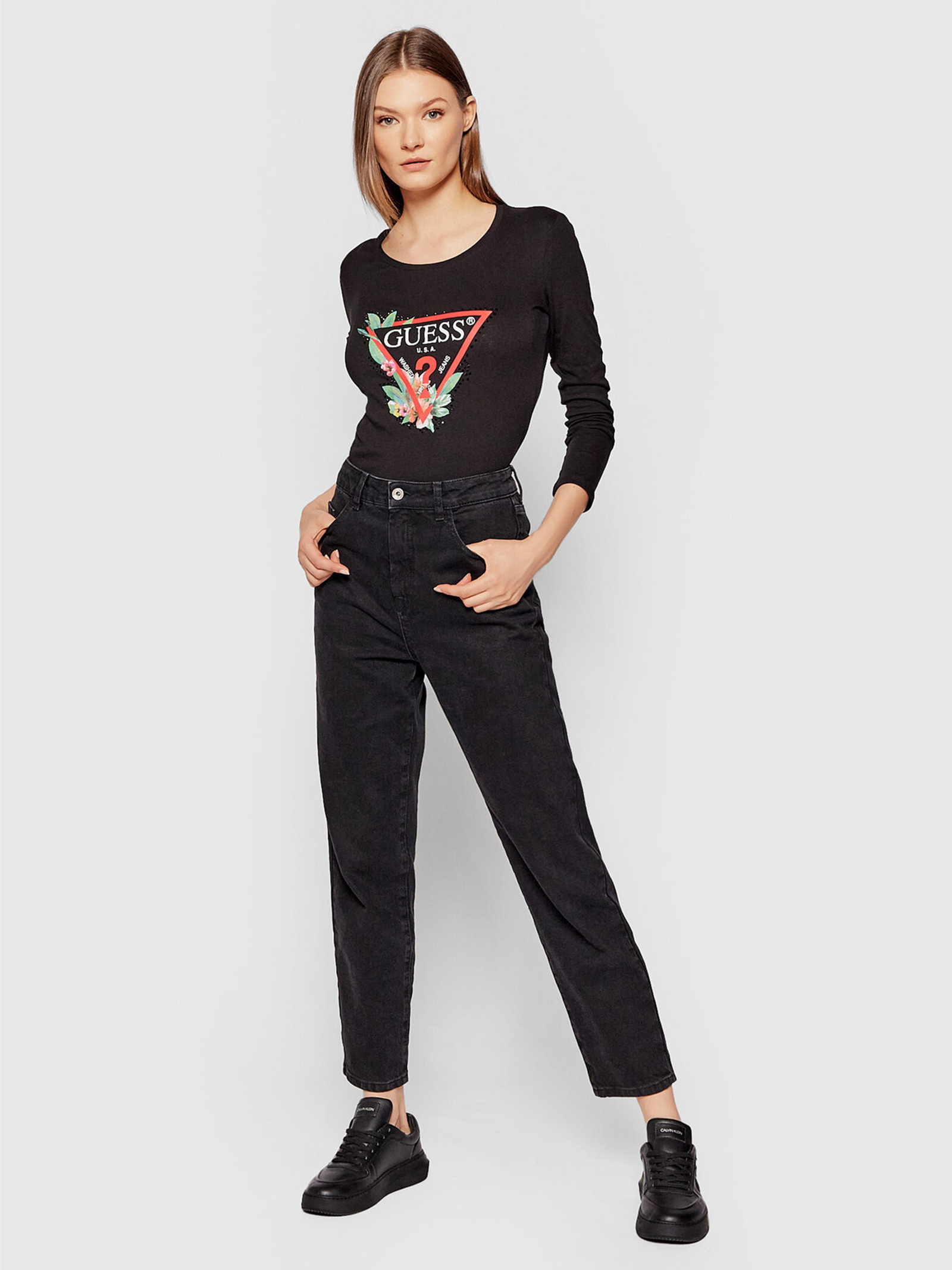 T-Shirt nelli GUESS   Maglie   W1YI97JA911JBLK