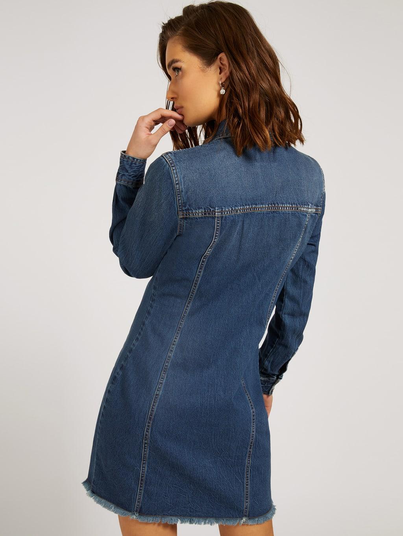 Abito velvet Jeans GUESS | Abiti | W1YK74D32Q6GYBB