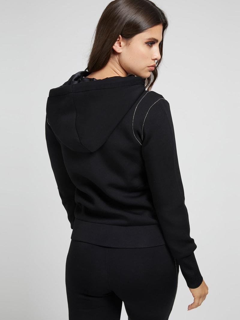 Elsa zipped sweatshirt GUESS | Sweatshirts | W1YQ74KAMN2JBLK