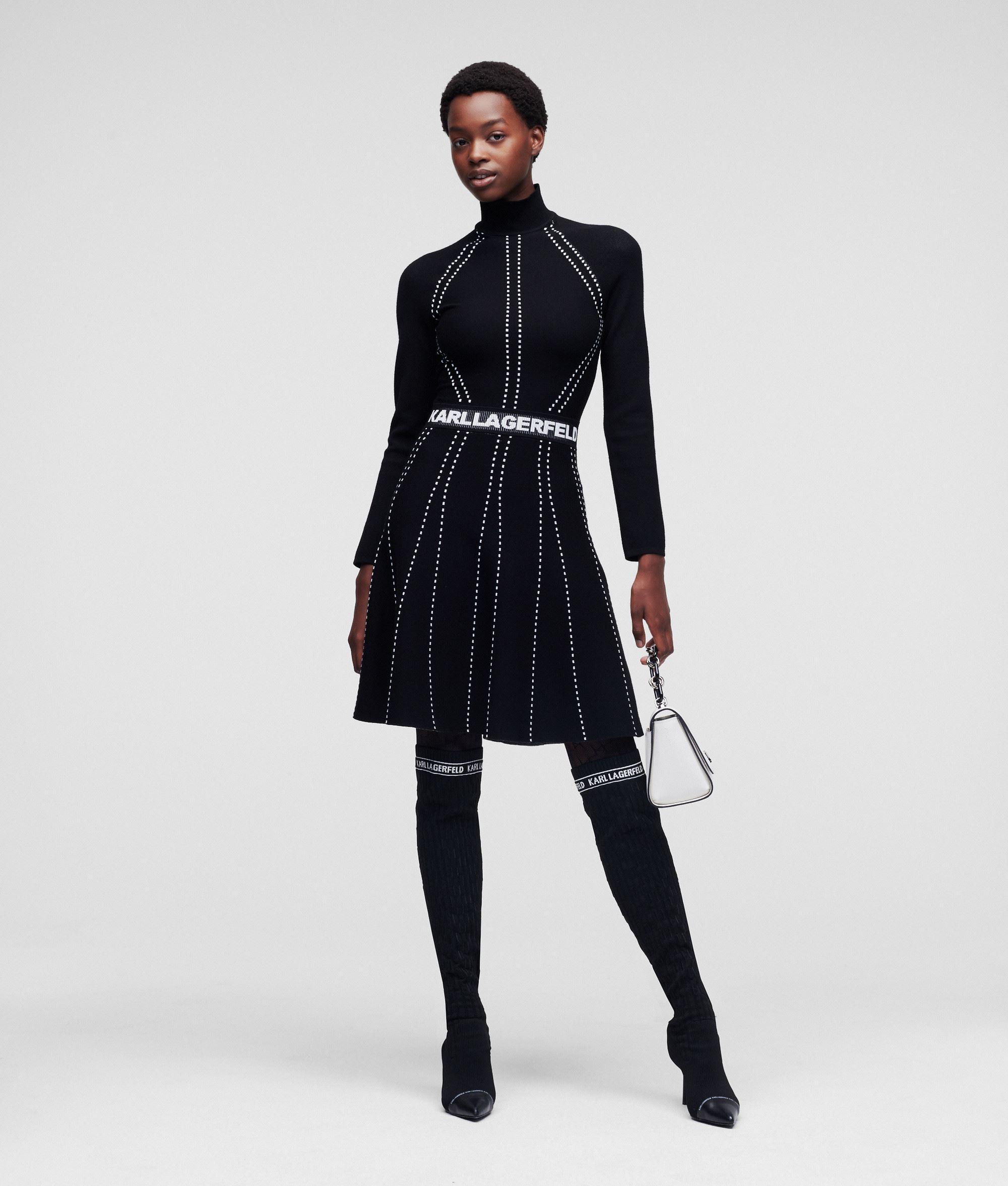 Dress Contrast Stitch  KARL LAGERFELD   Dresses   216W2031999