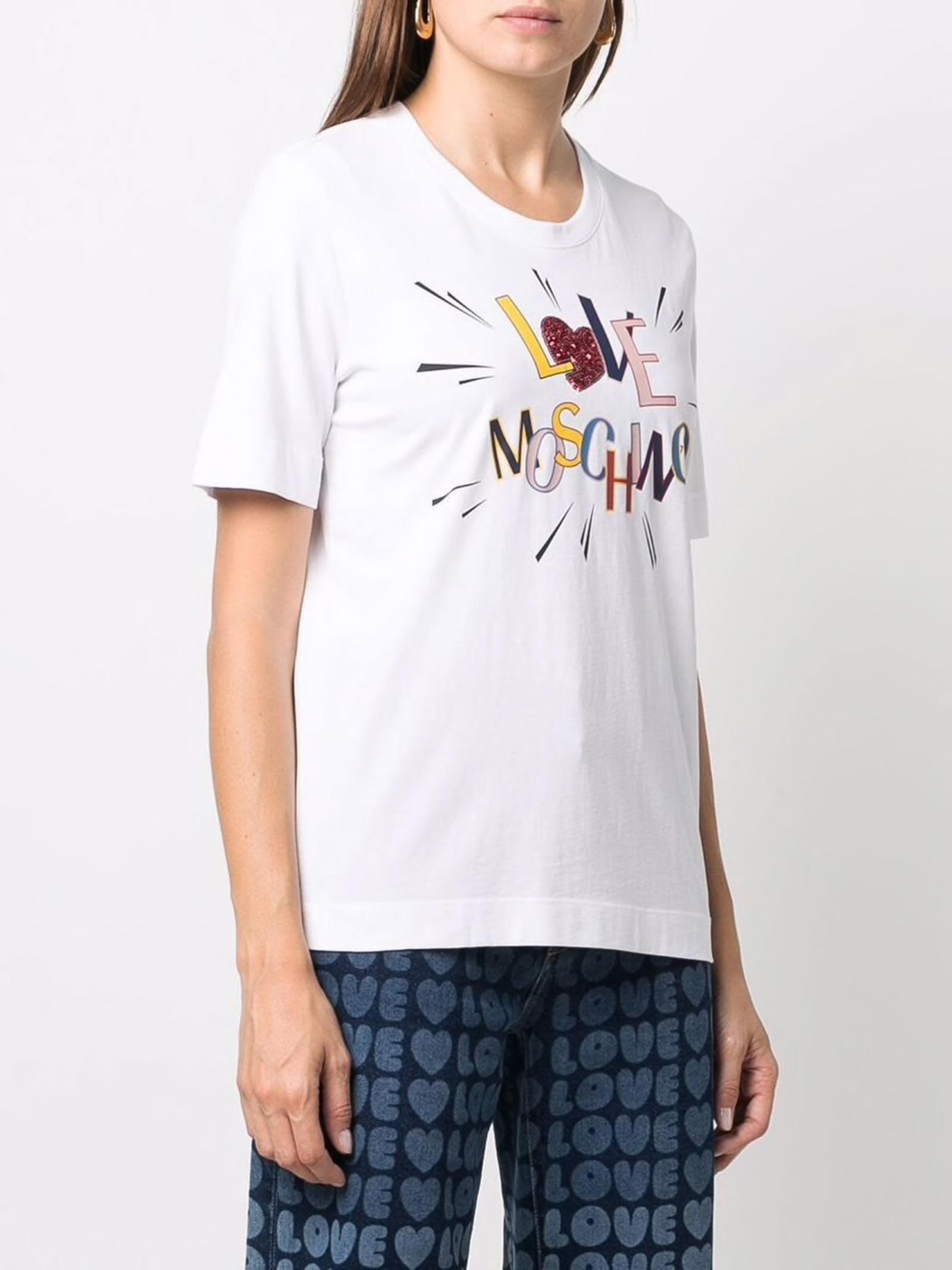 swish t-shirt LOVE MOSCHINO | T-Shirts | W4F153EM3876A00
