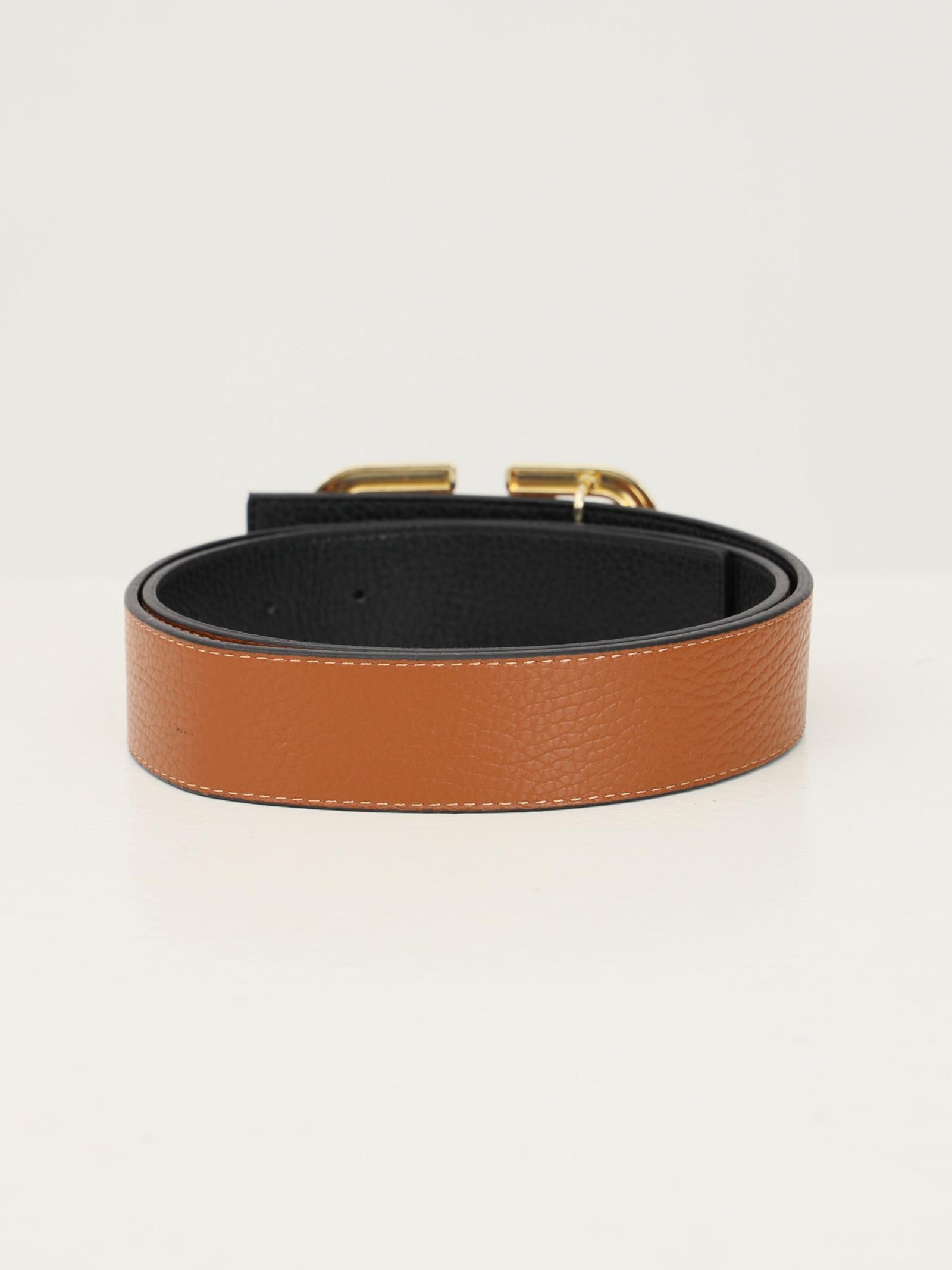 Cintura maxi logo M MARC ELLIS | Cinture | MEBELT12CUOIO/BLACK