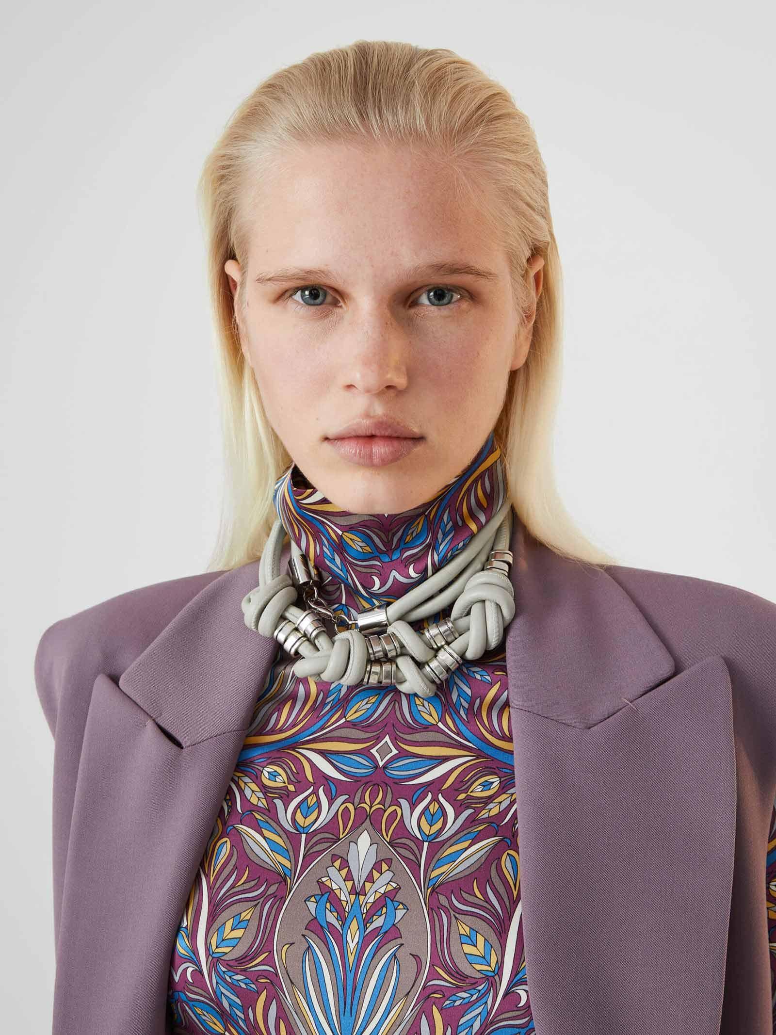 Turtleneck Noveau Flowers  SFIZIO | knitwear | 21FA8135LIBERTY410