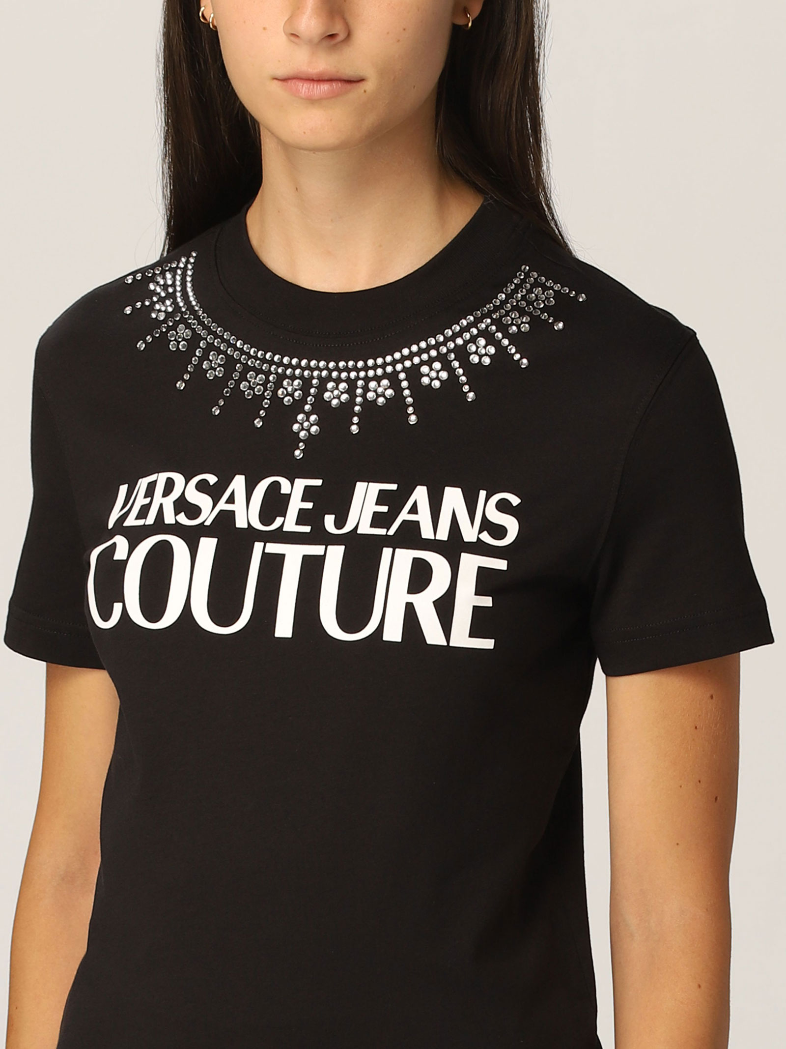 T-shirt strass VERSACE JEANS   T-shirt   71HAHG03899