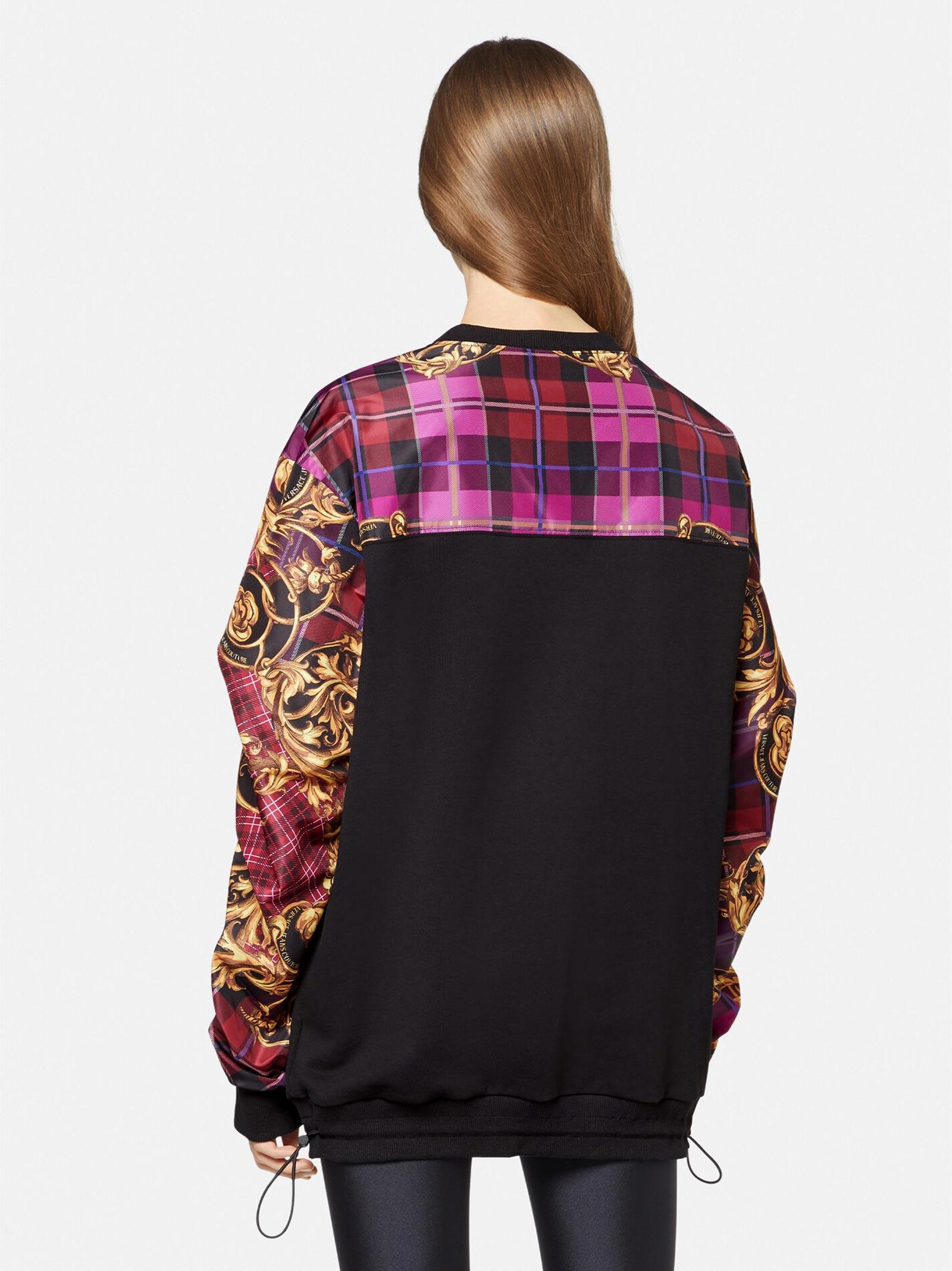 Sweatshirt purple baroque VERSACE JEANS | Sweatshirts | 71HAI301G41