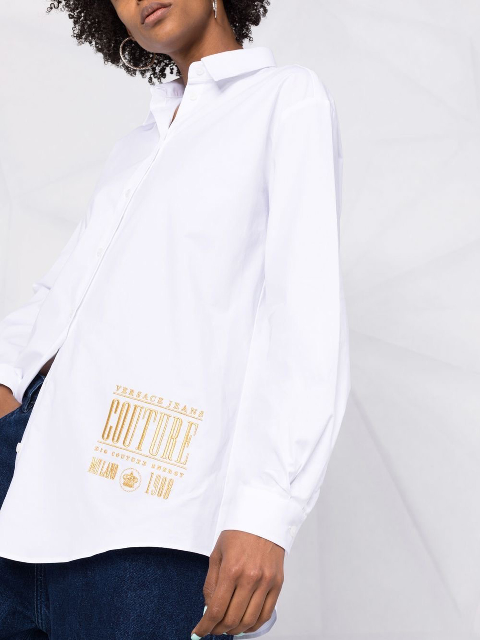 Shirt embroidered baroque VERSACE JEANS | Shirts | 71HAL223003